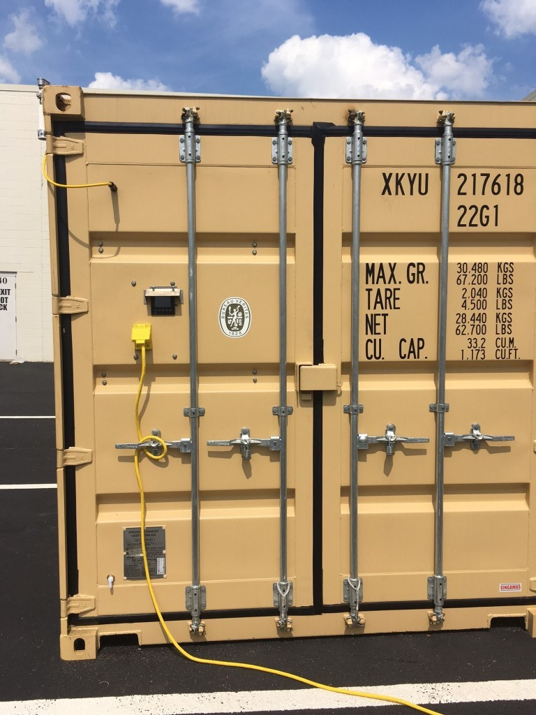 Dehumidified Shipping Container protects products and goods in storage or transit