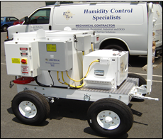 Mobile Dehumidifiers Allow Spot Drying